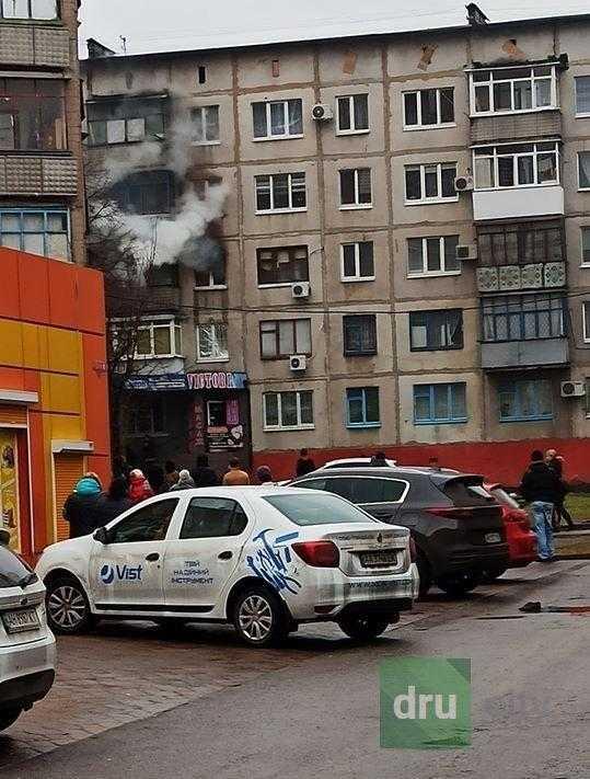Дружковские полицейские помогли пострадавшей от пожара семье
