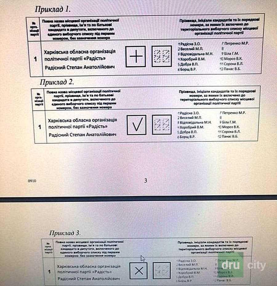 Выборы-2020.Как дружковчанам  заполнить бюллетень на местных выборах правильно
