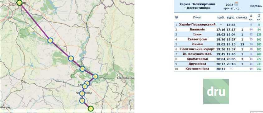 Скоростная электричка Константиновка-Харьков запущена с сегодняшнего дня