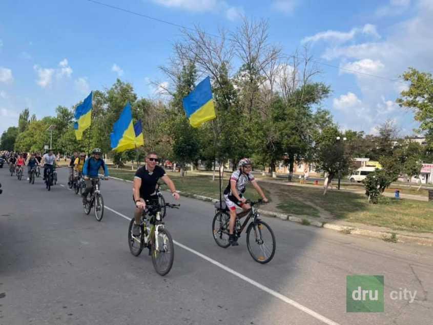 Велопробег в Дружковке по случаю Независимости Украины!